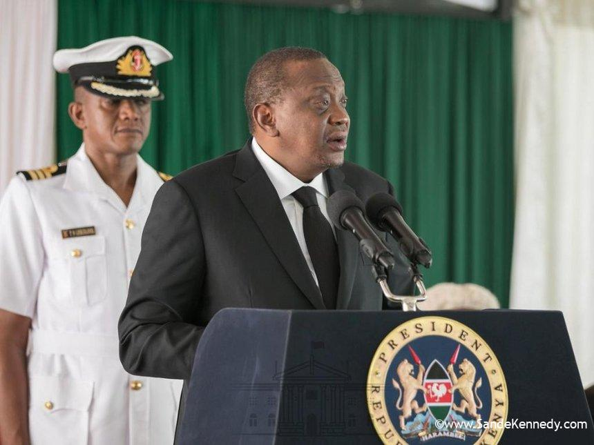 President Uhuru Kenyatta speaks during the State of Judiciary and Administration of Justice Report 2017/2018 at the Supreme Court on February 28, 2019. /PSCU