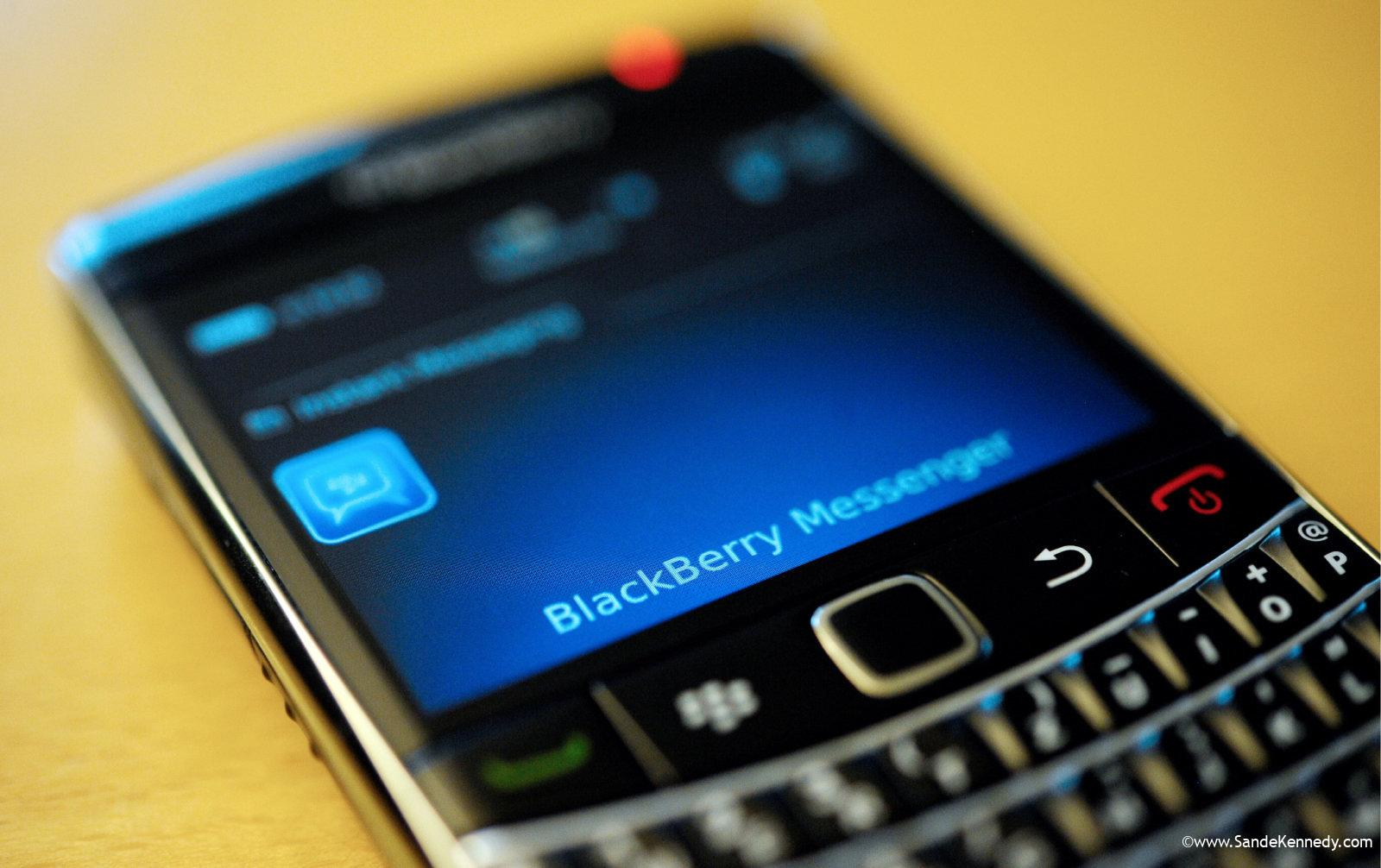 """FILE - This file photo taken Sept. 8, 2011, shows a BlackBerry smartphone using the """"Messenger"""" service, in Berlin. Research In Motion releases quarterly financial results Friday, Sept. 15, 2011, after the market close. (AP Photo/dapd, Oliver Lang, File)"""